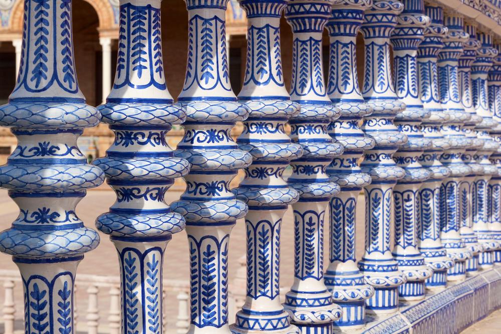 Ceramic Bridge inside Plaza de Espana in Seville Spain