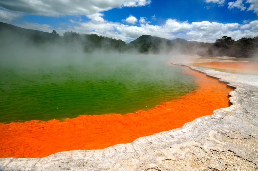 Champagne Pool Wai O Tapu Thermal Wonderland Rotorua New Zealand