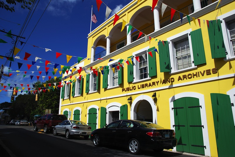 Charlotte Amalie town public library on St
