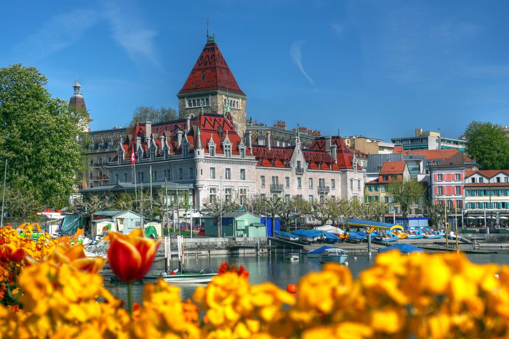 Chateau dOuchy Lausanne Switzerland