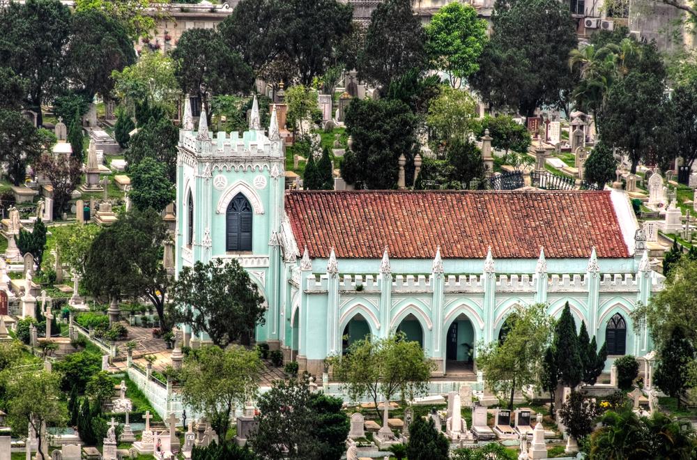 Churchyard in Macao