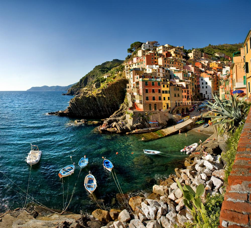 Cinque Terre Italy Riomaggiore colorful fishermen village