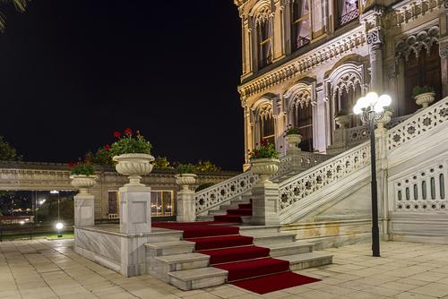 Ciragan palace in bosphorusIstanbul Turkey