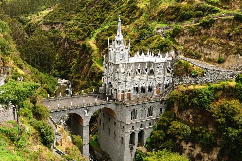 Colombia church of Las Lajas