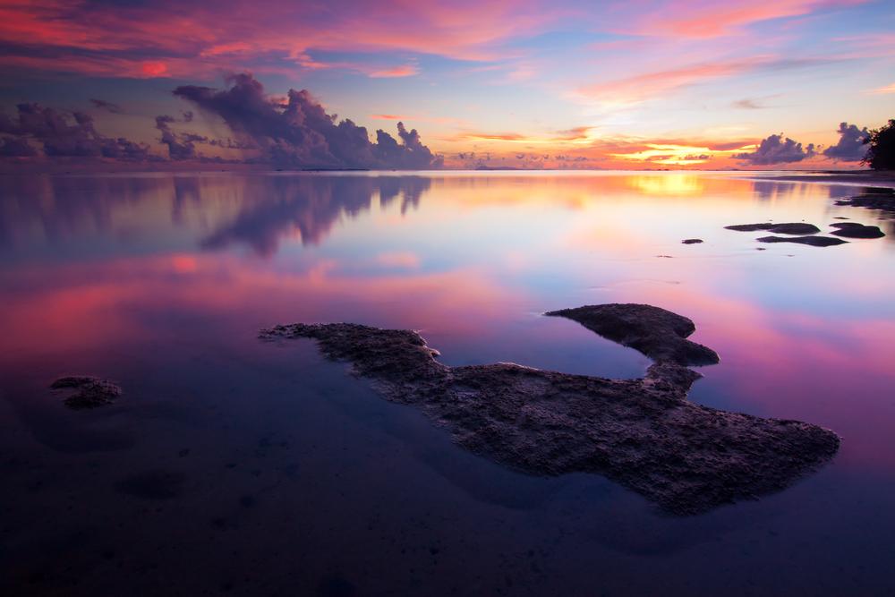 Colors of sunrise at BorneoSabahMalays ia