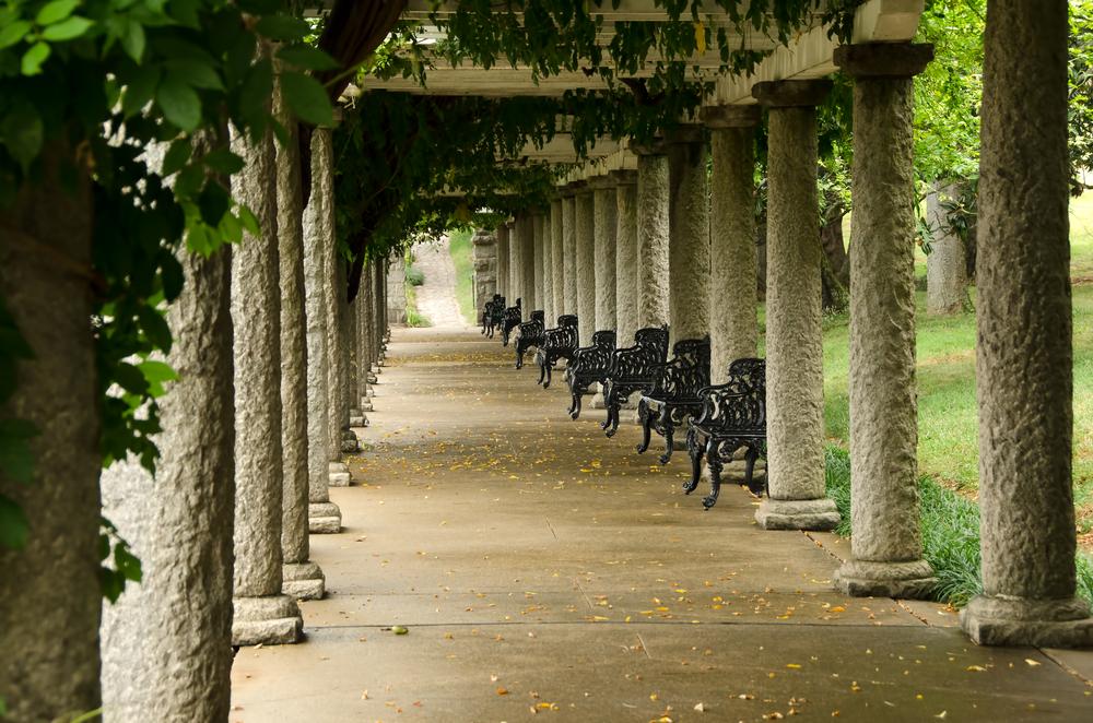 Columns and Ivy in Maymont Gardens Richmond Virginia