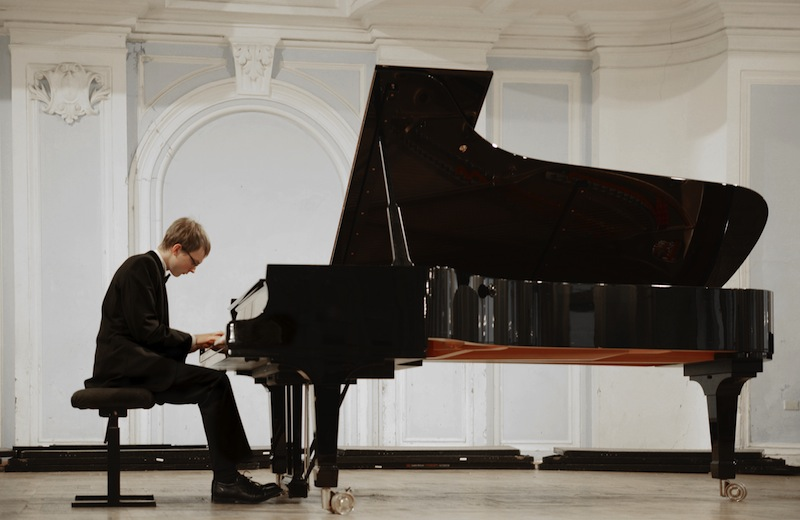 Concert in the Rachmaninov Hall of the Moscow Conservatory Russia