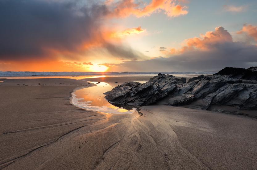 Cornish Beach Cornwall UK