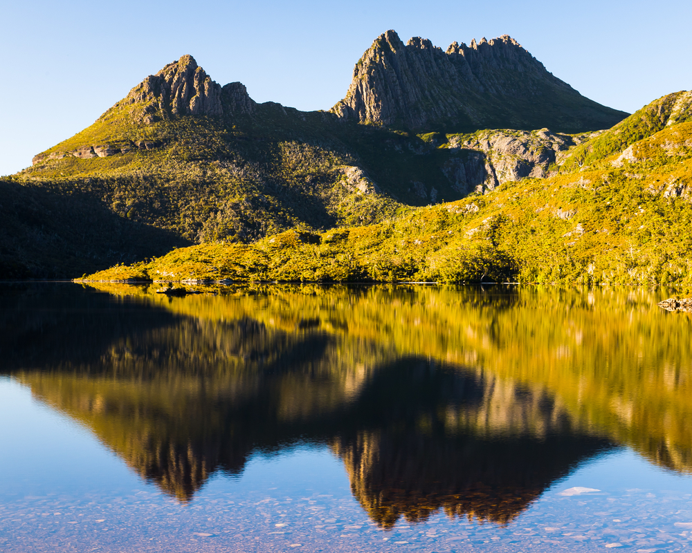 Cradle Mountain and Dove Lake Tasmania in Cradle Mountain Lake St Clair National Park Australia
