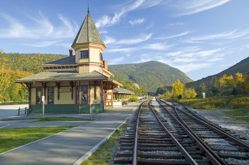 Crawford Depot along the train ride to Mount Washington New Hampshire