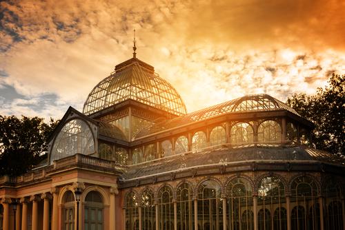 Crystal Palace in Retiro Park Madrid Spain