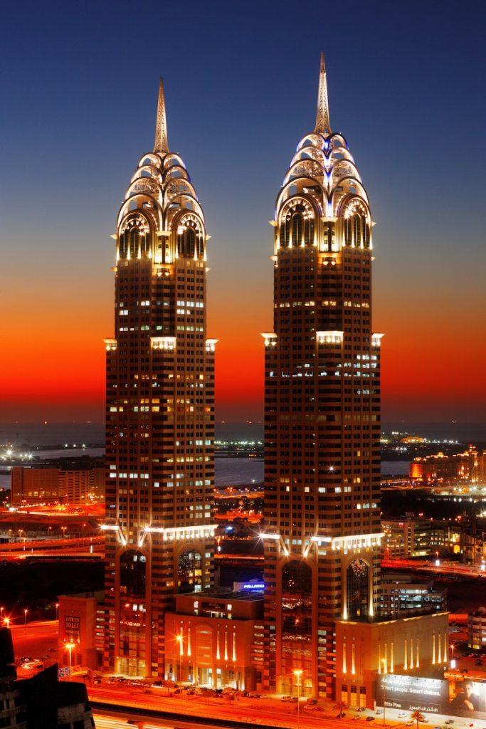 DUBAI UAE FEBRUARY 8 Business Central Twin Towers