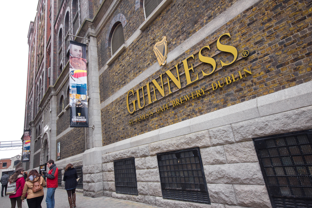 DUBLIN IRELAND APR 1 The Guinness Storehouse Brewery at St