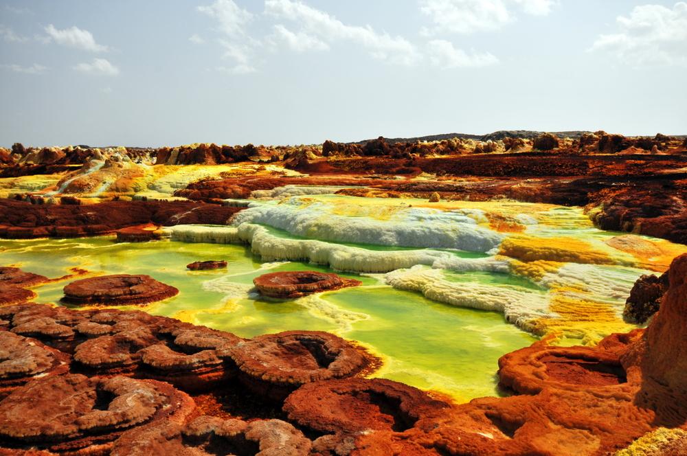 Dallol Colorful vulcano in Danakil dessert etiopia