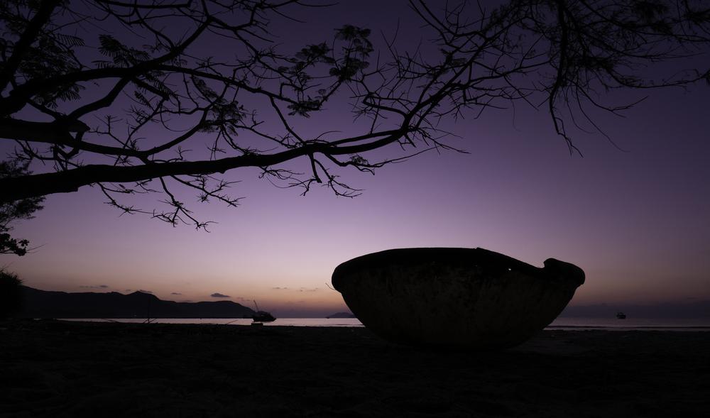 Dawn on ConDao scenic drive along coast of Con Dao Island Ba Ria Vung Tau province Vietnam