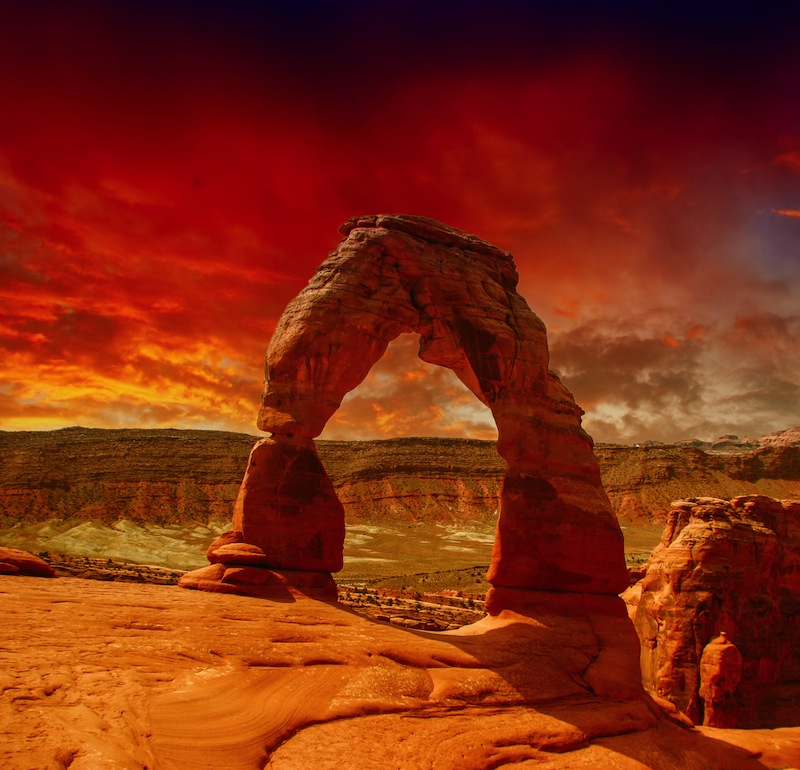 Delicate Arch in Arches National Park Utah