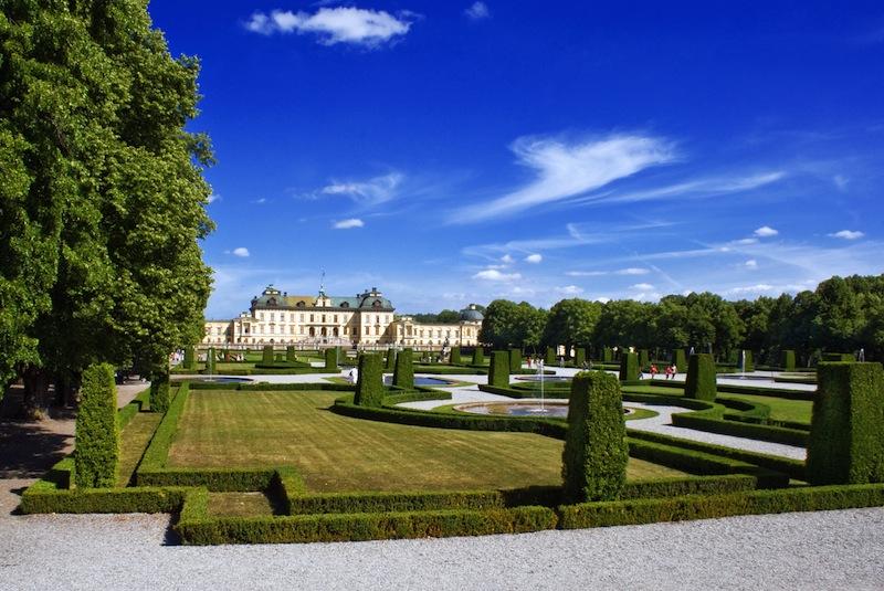 Drottningholm Palace Gardens at Stockholm