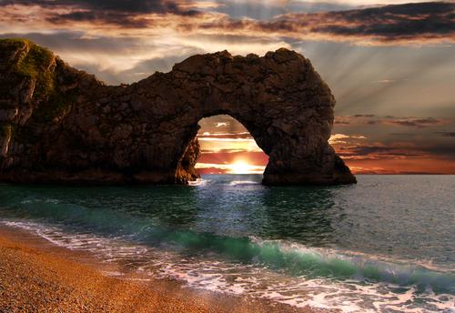 Durdle Door sea arch in Dorset Jurassic Coast
