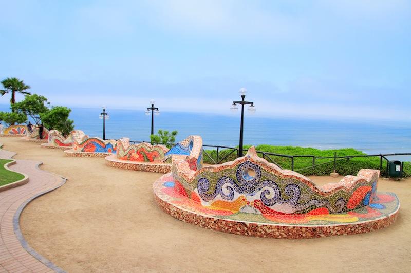 El Parque del Amor love park in Miraflores Lima Peru