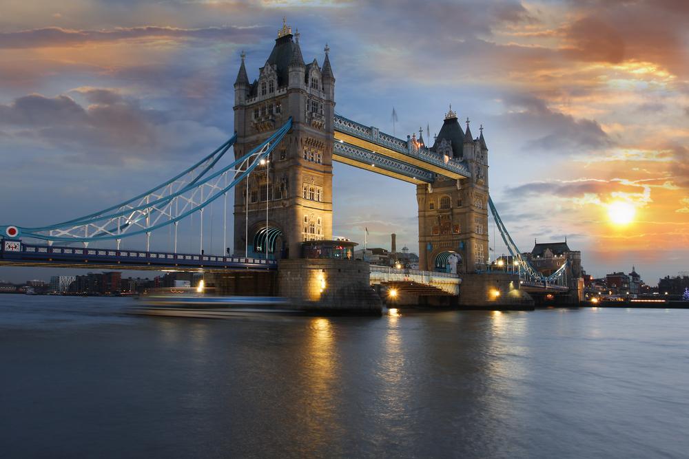 Famous Tower Bridge London UK