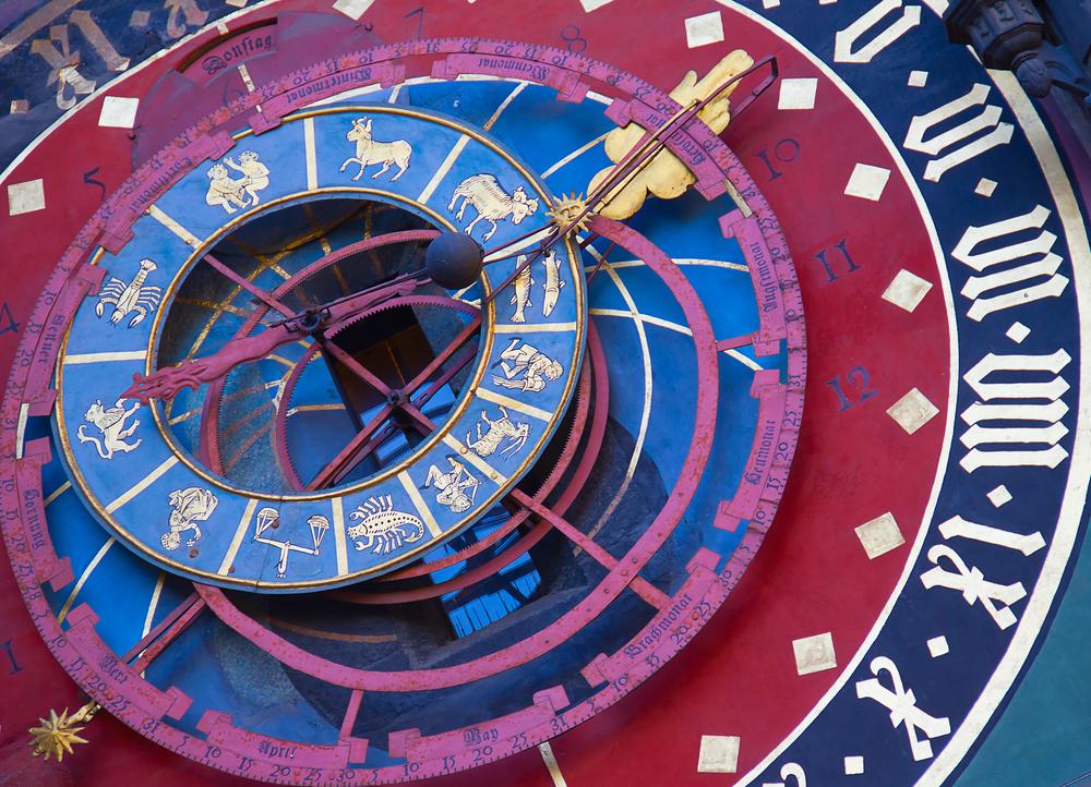 Famous Zytglogge0 zodiacal clock in Bern Switzerland