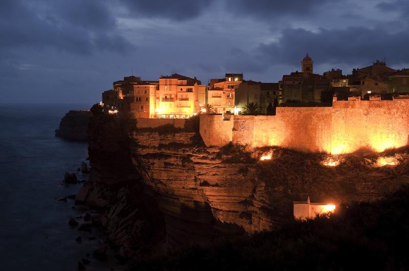 Famous buildings in the citadel of Bonifacio