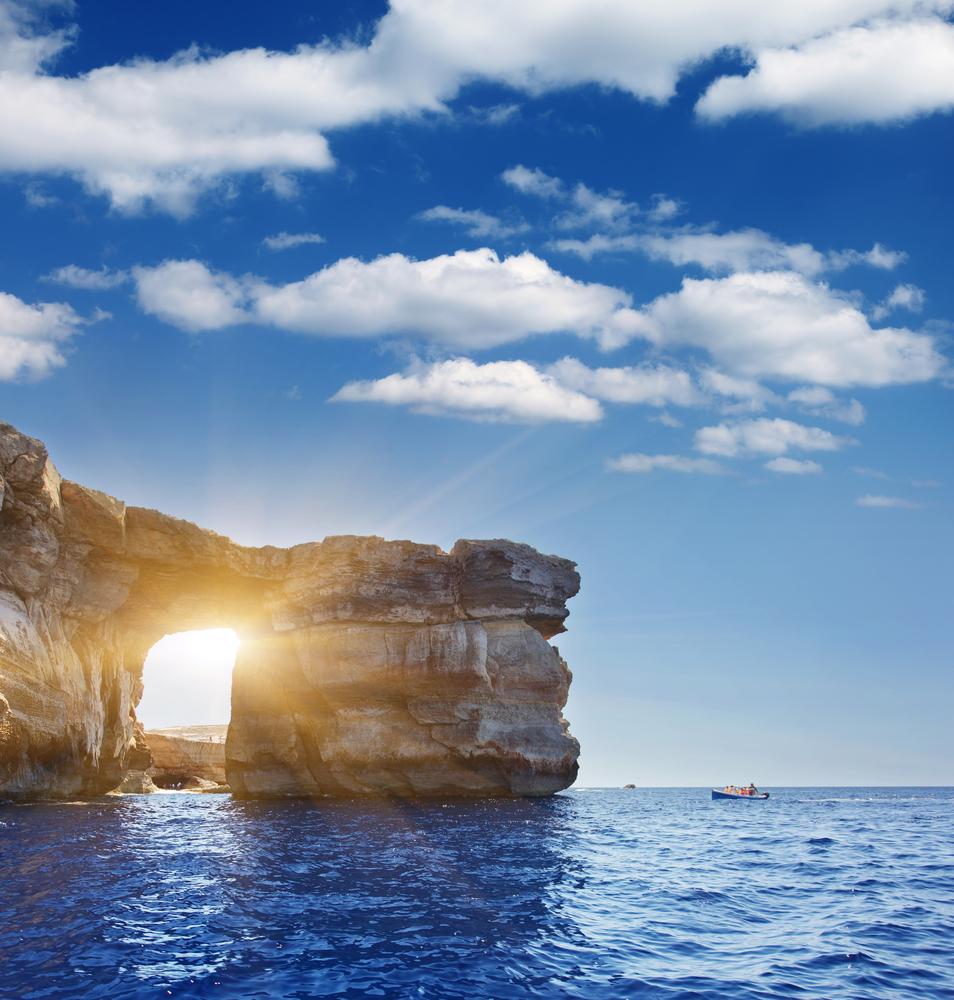 Fantastic Azure Window famous stone arch on Gozo island Dwejra