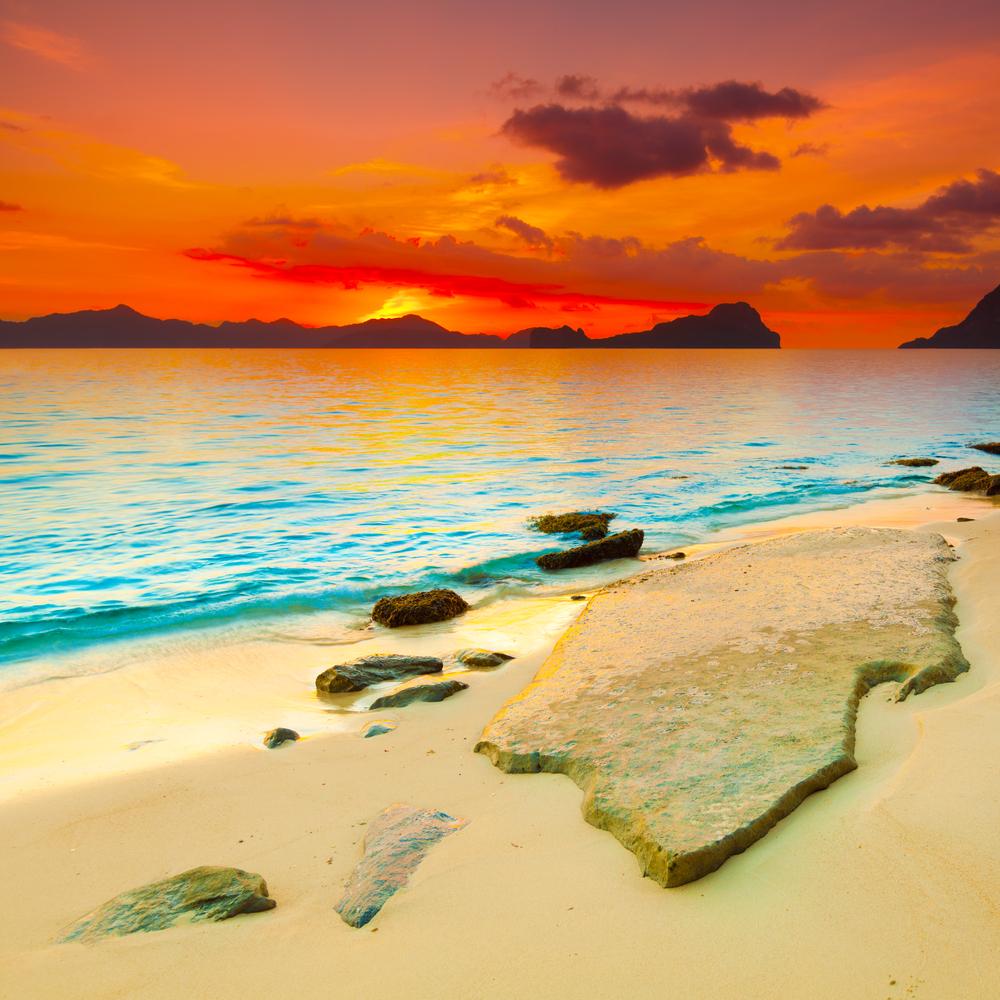 Fantasy sunset over the sea