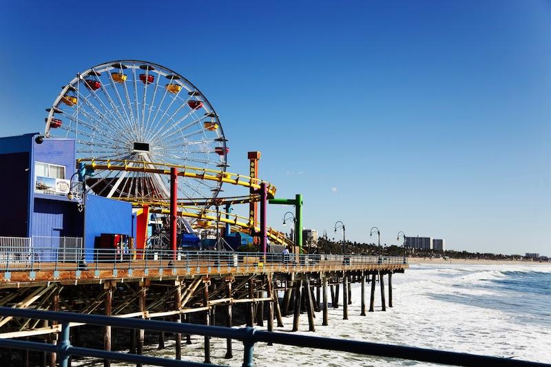 Ferris wheel on Santa Monica Pier Los Angele