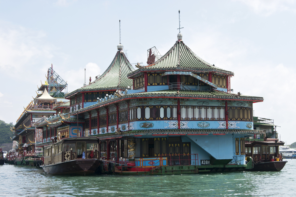 Floating restaurant in Hong Kong