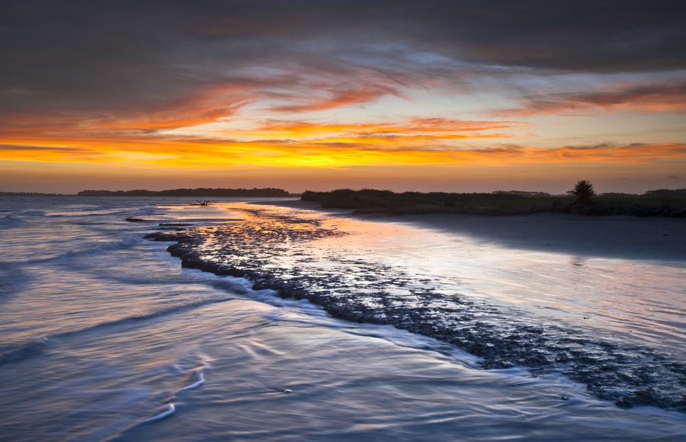 Folly Beach Ocean Sunset Charleston SC Landscape seascape6