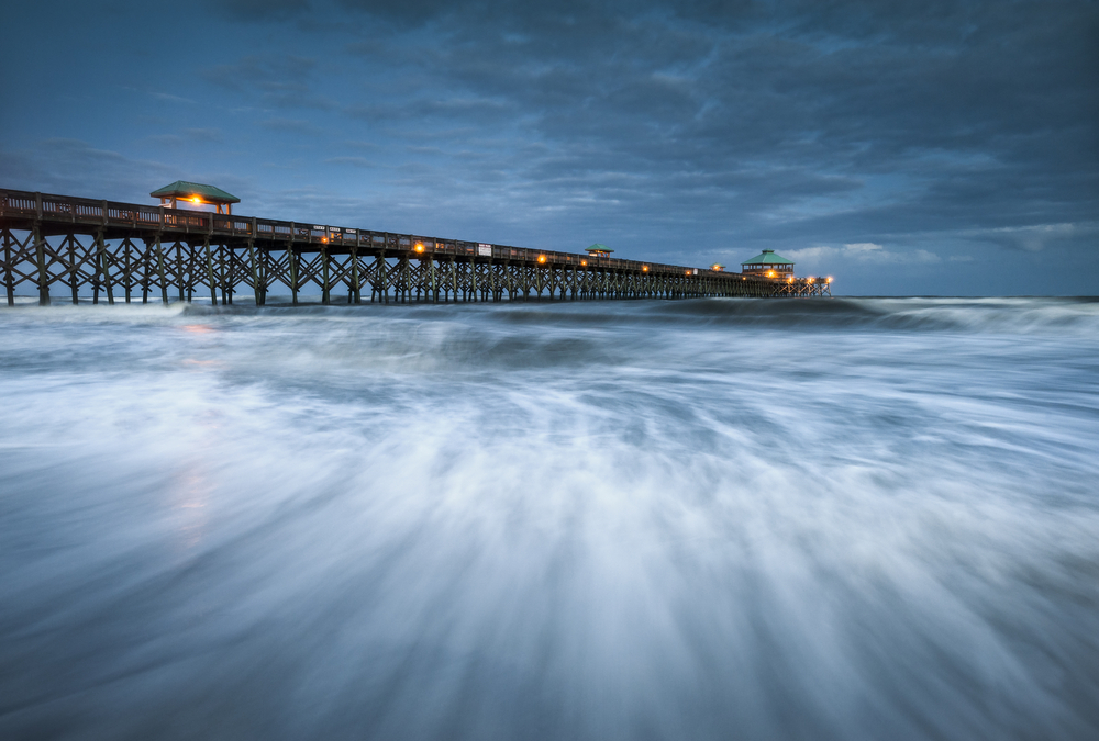 Folly Beach Pier Charleston SC East Coast Atlantic Ocean landscape scenic photography and vacation destination