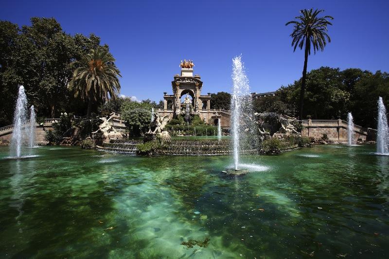 Font de la Cascada fountain in Parc de la Ciutadella in Barcelona Catalonia Spain