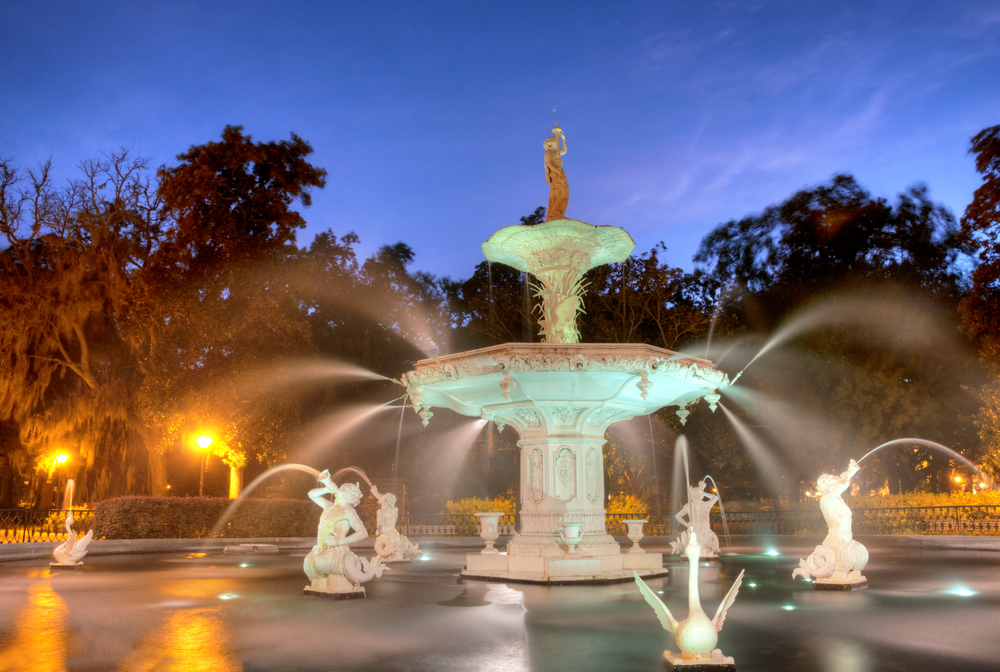 Forsyth Fountain in Savannah Georgia