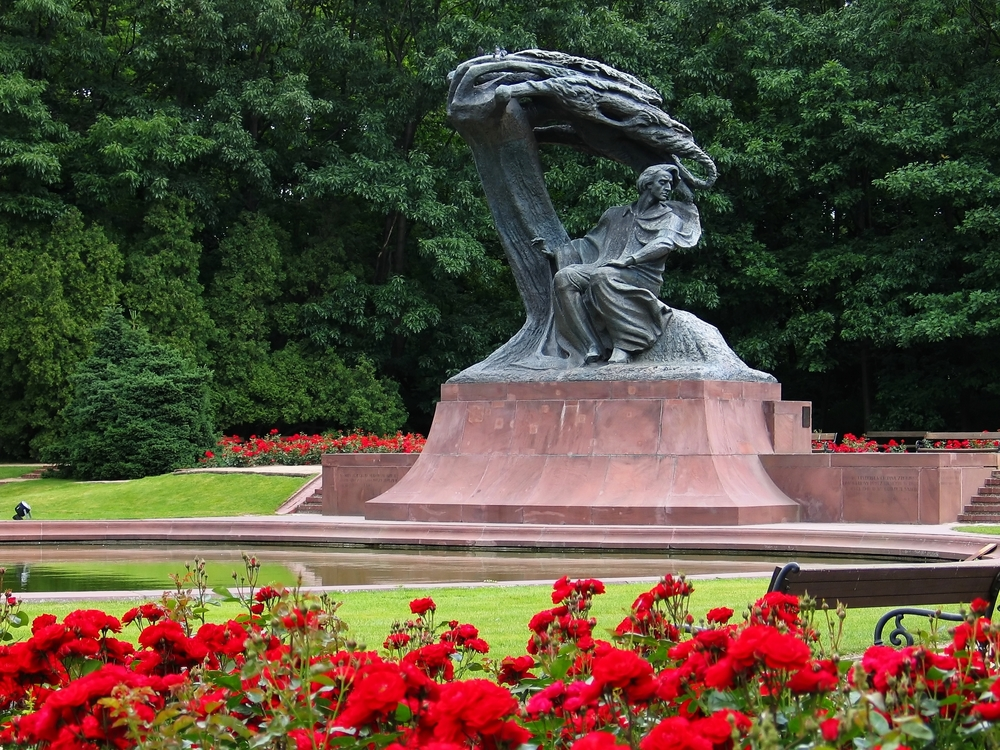 Frédéric Chopin Monument in Warsaw Poland