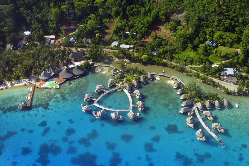 French Polynesian Island of Bora Bora in the pacific Ocean