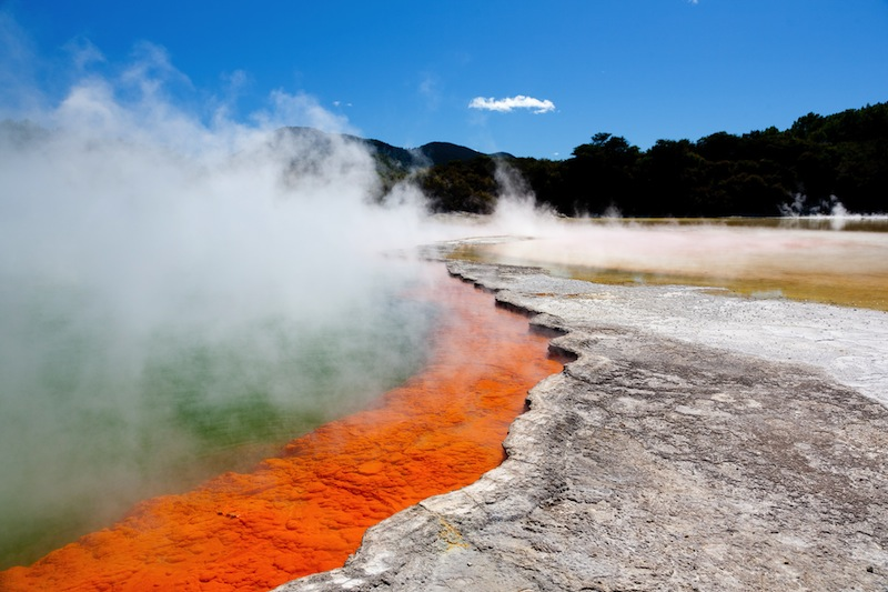 Geothermal pool near Rotorua North Island New Zealand