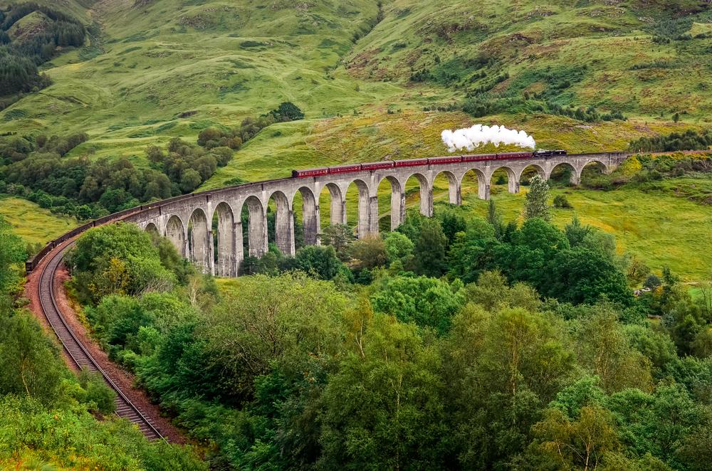 Glenfinnan viaduct Scotland Great Britain