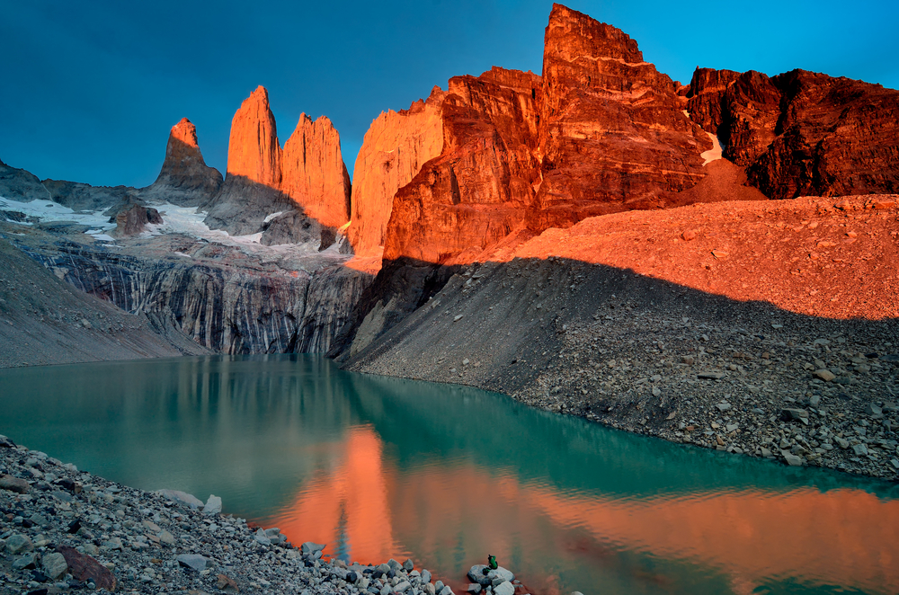 Granite towers of Torres del Paine Chile