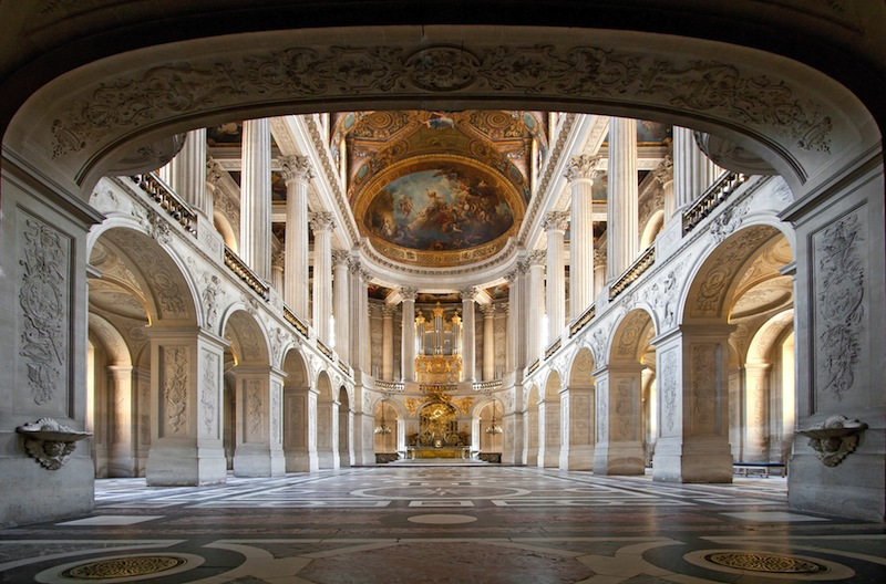 Great Hall Ballroom in Versaille Palace Paris