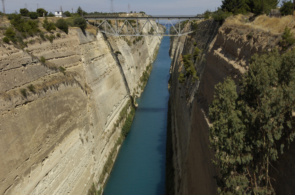 Greece canal of Corinth