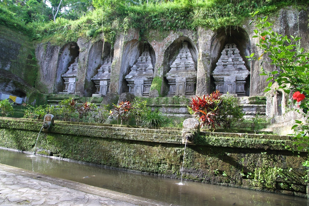 Gunung Kawi Temple an ancient temple carved into rock dating back to the 11th century near Tampaksiring Village Ubud Denpasar Indon