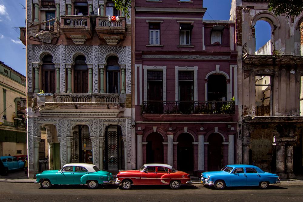 HAVANA FEBRUARY 12 Classic cars parked on the street on February 12 2013 in Havana