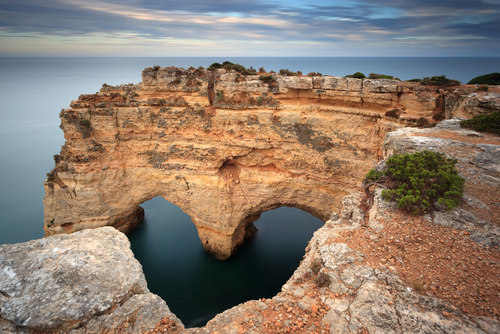 Heart shaped Rock in the Algarve on the southern coast of Portugal