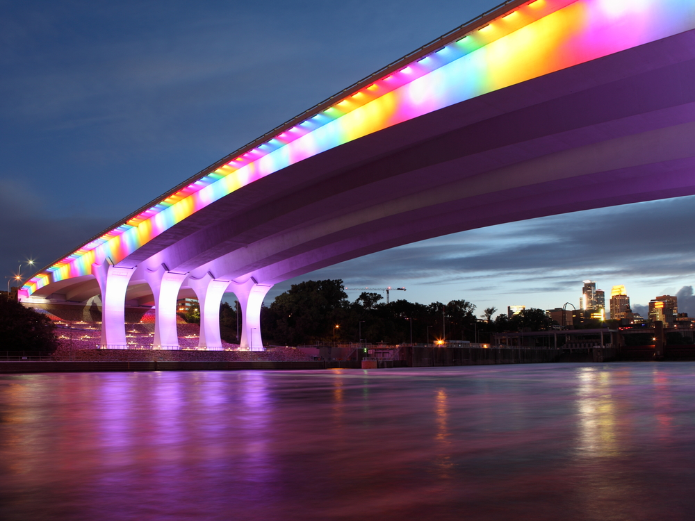 Highway 35W bridge over Mississippi river in Minneapolis