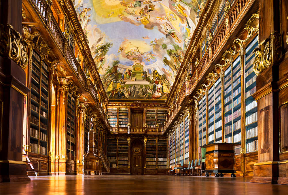Historical library of Strahov Monastery in Prague Philosophical Hall