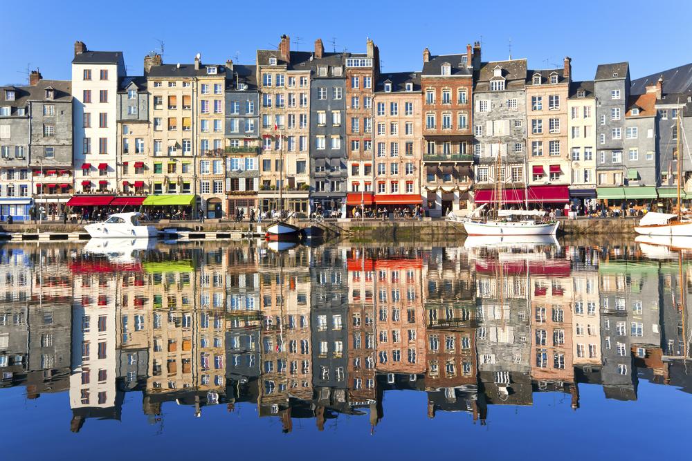 Honfleur harbour in Normandy France
