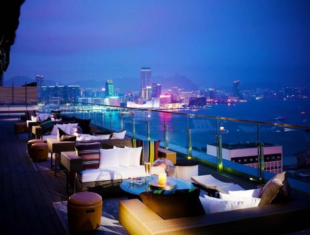 Hong Kong's sun set viewed at SEVVA's Terrace_mid1 640x484