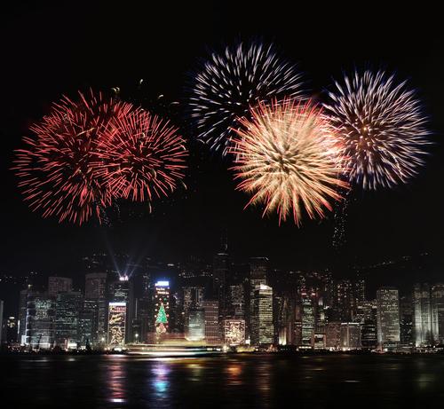 HongKong City Night anno nuovo