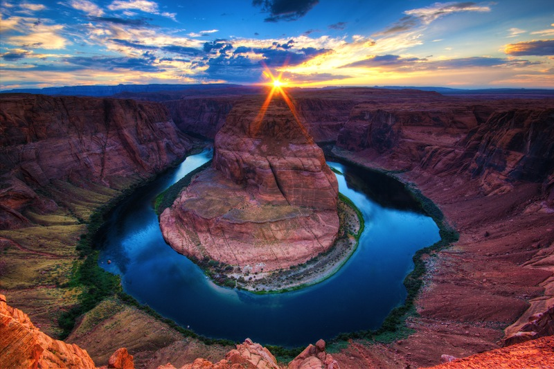 Horseshoe Bend sunset in the Colorado Canyon